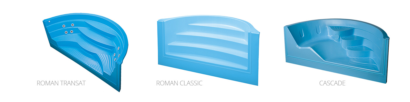 Escaliers piscine 100 acrylique domcomposit for Piscine acrylique