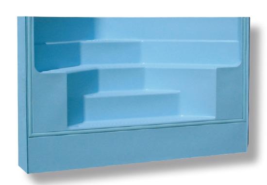 Escalier piscine angle x h domcomposit for Piscine acrylique