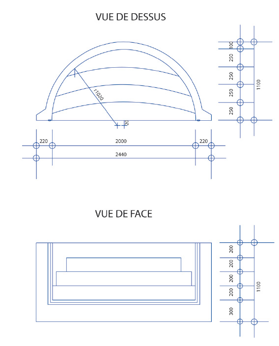 Escalier piscine Roman Classic 2.44m x H 1.20m